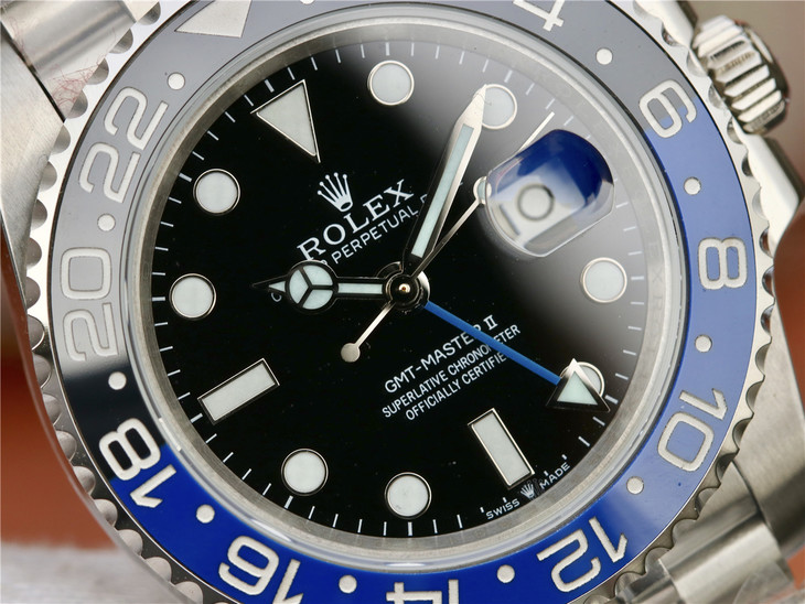Replica Rolex GMT Master II Black Blue Ceramic Bezel